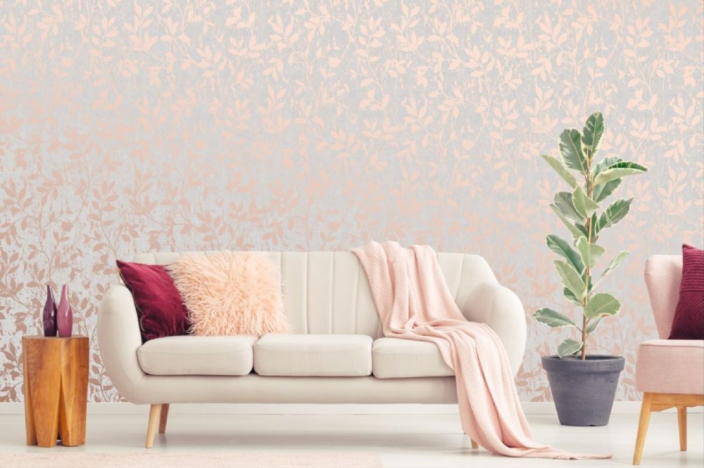 Graham and Brown Milan Trail Rose Gold 106402 Wallpaper